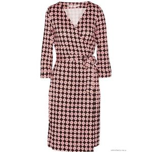 DVF Julian Two wrap dress rose pattern like new!